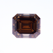 4.01 ct Brown Emerald Cut Diamond