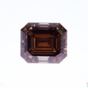 4.01 ct Brown Emerald Cut Diamond
