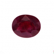 3.05 ct Purplish Red Oval Ruby