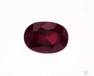 3.20 ct Red Oval Ruby