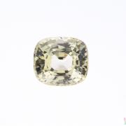 1.92 ct Greenish Yellow Cushion Sapphire