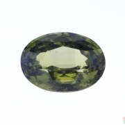 9.50 ct Yellowish Green Oval Sapphire