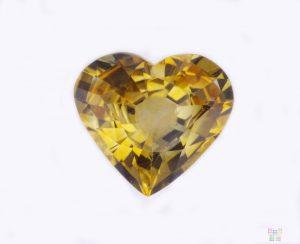 7.87 ct Yellow Heart Shape Sapphire